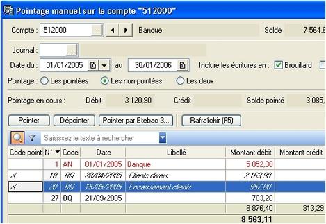 ciel compta 2006 et le pointage