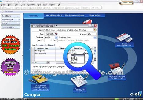 Enregistrer rapidement une facture fournisseur avec Ciel Compta